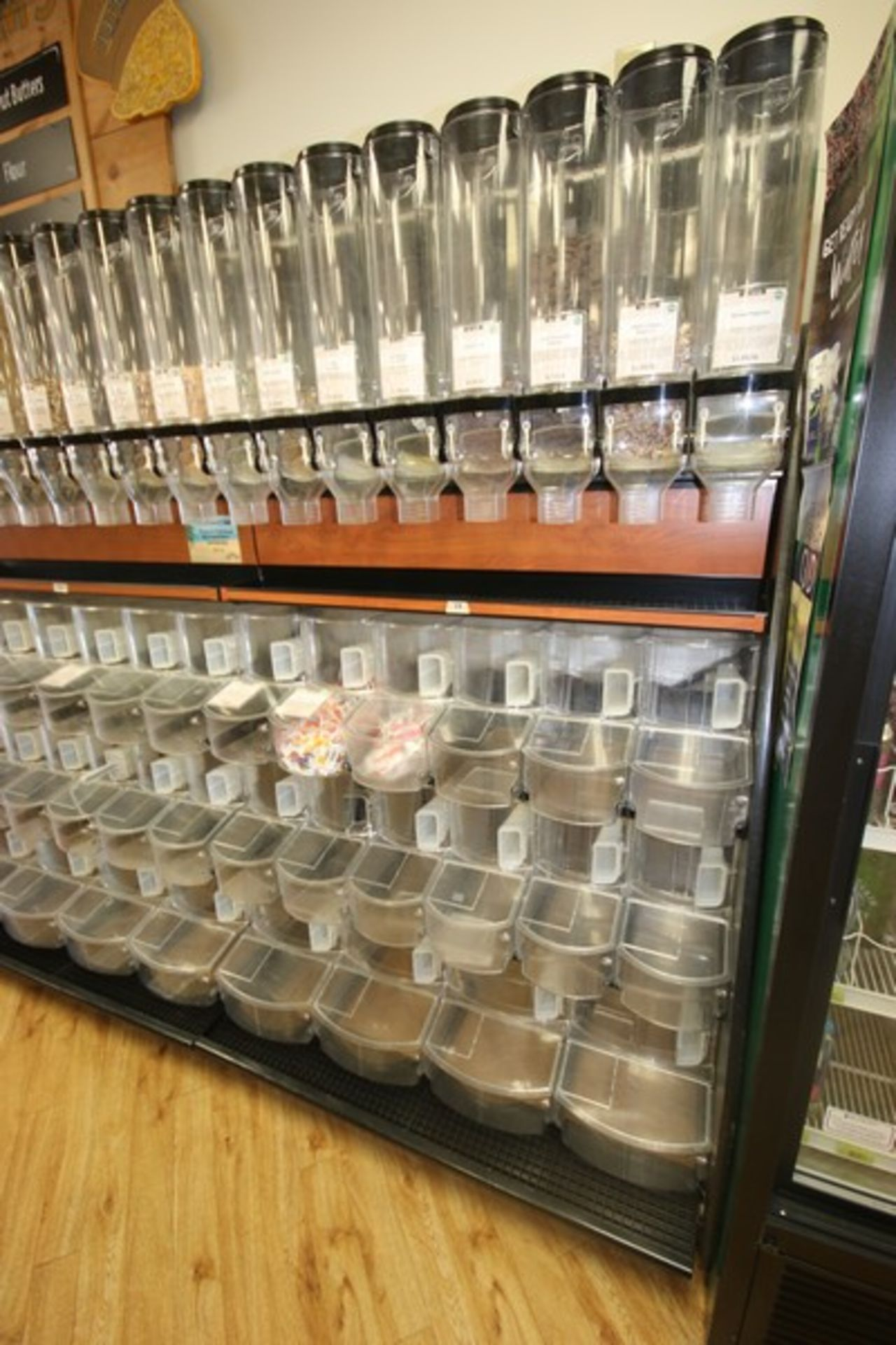 Dispensing Unit, with (8) Plastic Gravity Dispensing Units & (18) Plastic Scoop Bins, Overall Dims.: - Image 2 of 2
