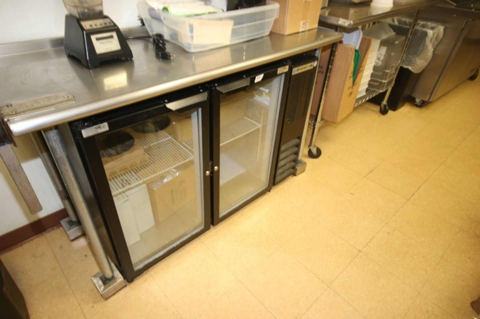 """Beverage-Air 2-Door Refrigerator, with Glass Faced Refrigeration Doors, Overall Dims.: Aprox. 48"""" - Image 2 of 2"""
