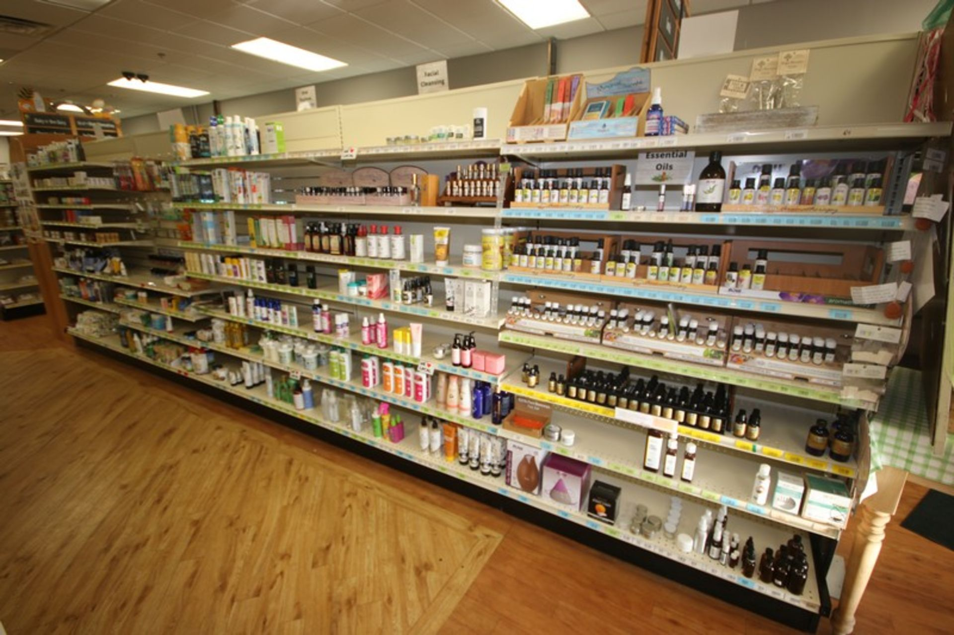 Feet of Double Sided Super Market Shelving, with Shelves (NOTE: SOLD BY THE FOOT) (Located in