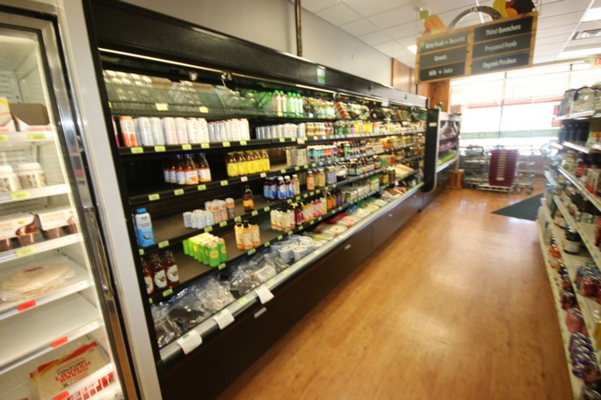 "Open Refrigerated Display Case, with 4-Internal Shelves, Overall Dims.: Aprox. 192"" L x 35"" W x - Image 2 of 2"