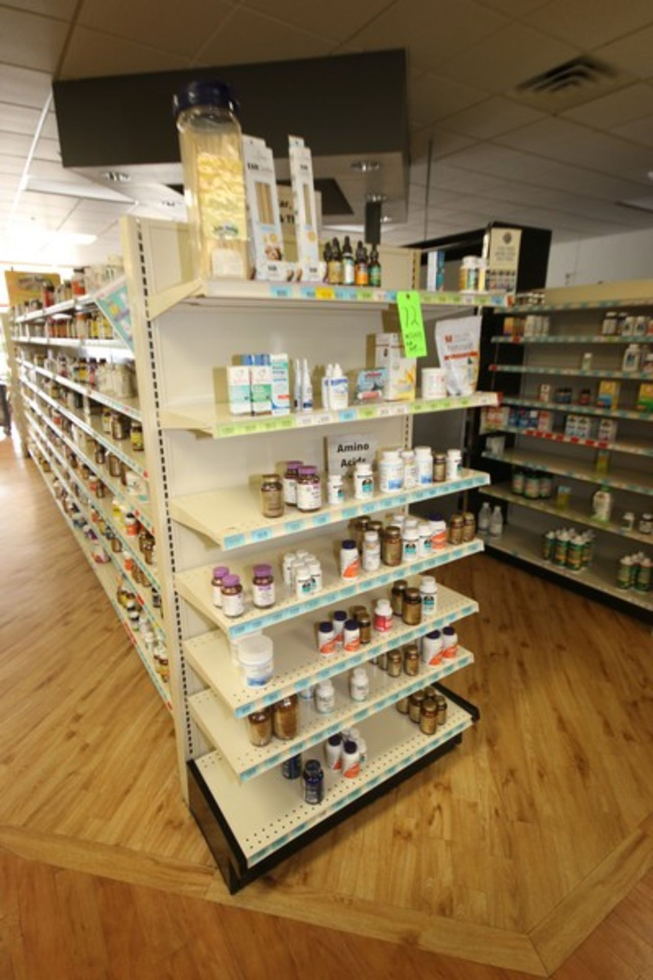"""End Shelf, with 7-Shelf Design, Overall Dims.: Aprox. 36"""" L x 18"""" W x 72"""" H (Located in McMurray,"""