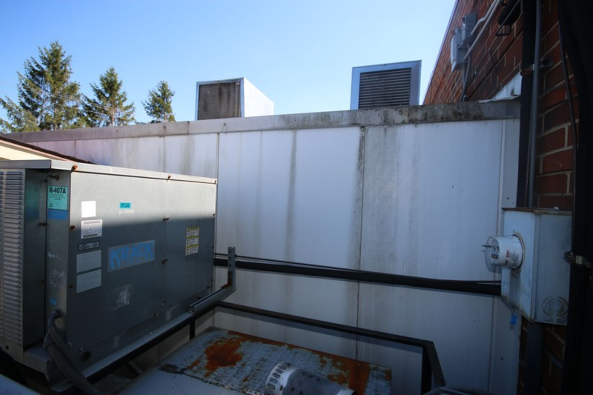 Harford Dual Compartment Walk-In Cooler & Freezer, M/N DR36788W5H8D, S/N XW703D9, Compartment Sizes: - Image 4 of 16