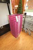 "Plastic Shopping Baskets, Internal Dims.: Aprox. 17-1/2"" L x 11-1/2"" W x 10"" Deep (Located in"