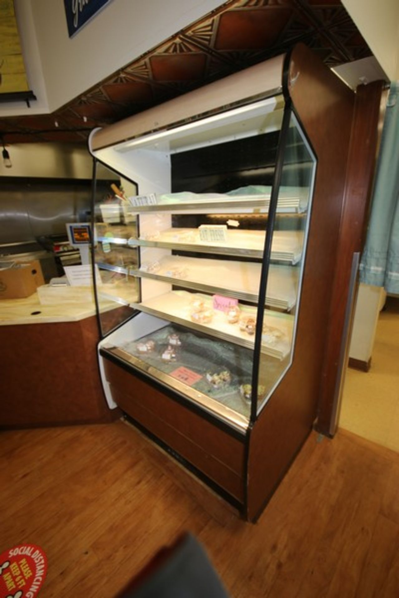 Federal Industries Open Refrigerated Display Case, M/N RSSM4788SC, with 4-Internal Shelves, - Image 2 of 3