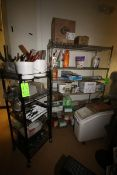 2-Racks with Contents, Includes Handware, Plastic Inserts, Whip, & Other Kitchen Utensils (Located