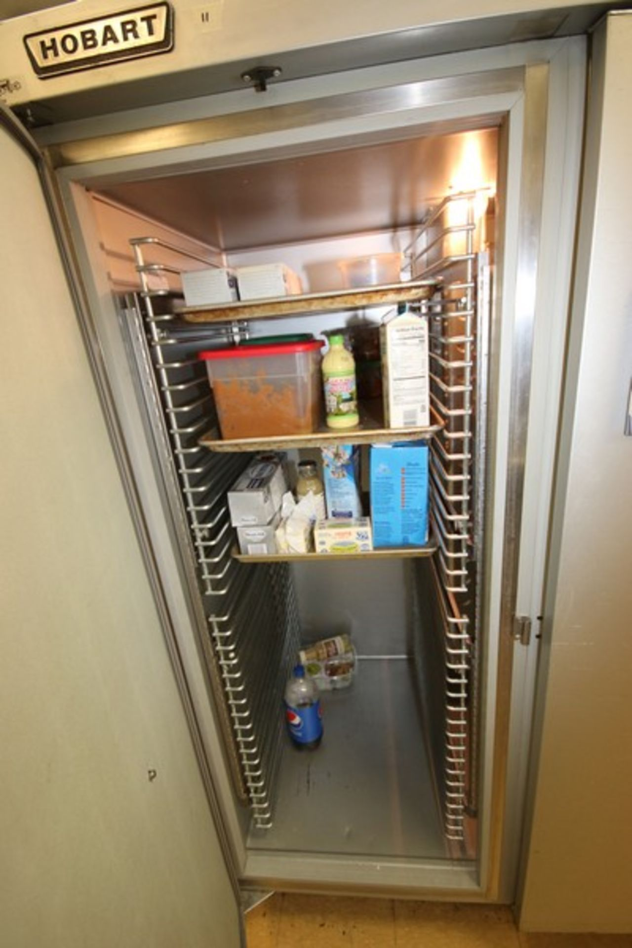 """Hobart 3-Compartment S/S Refrigerator, M/N OFR3, S/N 32 544 374, Overall Dims.: Aprox. 83"""" L x 33"""" W - Image 4 of 6"""