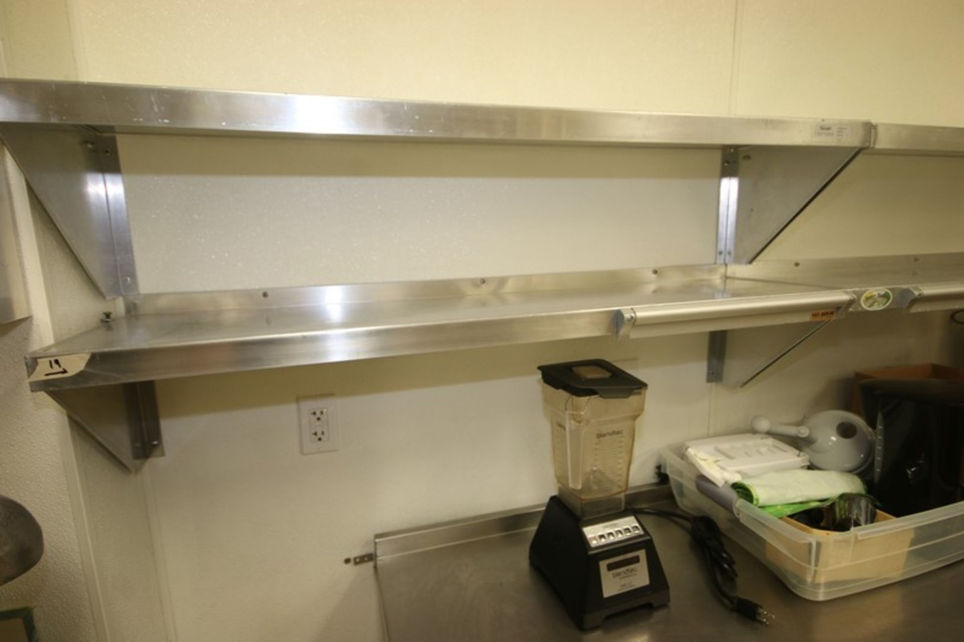 """Win-Holt S/S Shelves, Shelf Dims.: Aprox. 48"""" L x 12"""" W, Wall Mounted (Located in McMurray, PA) ( - Image 3 of 4"""