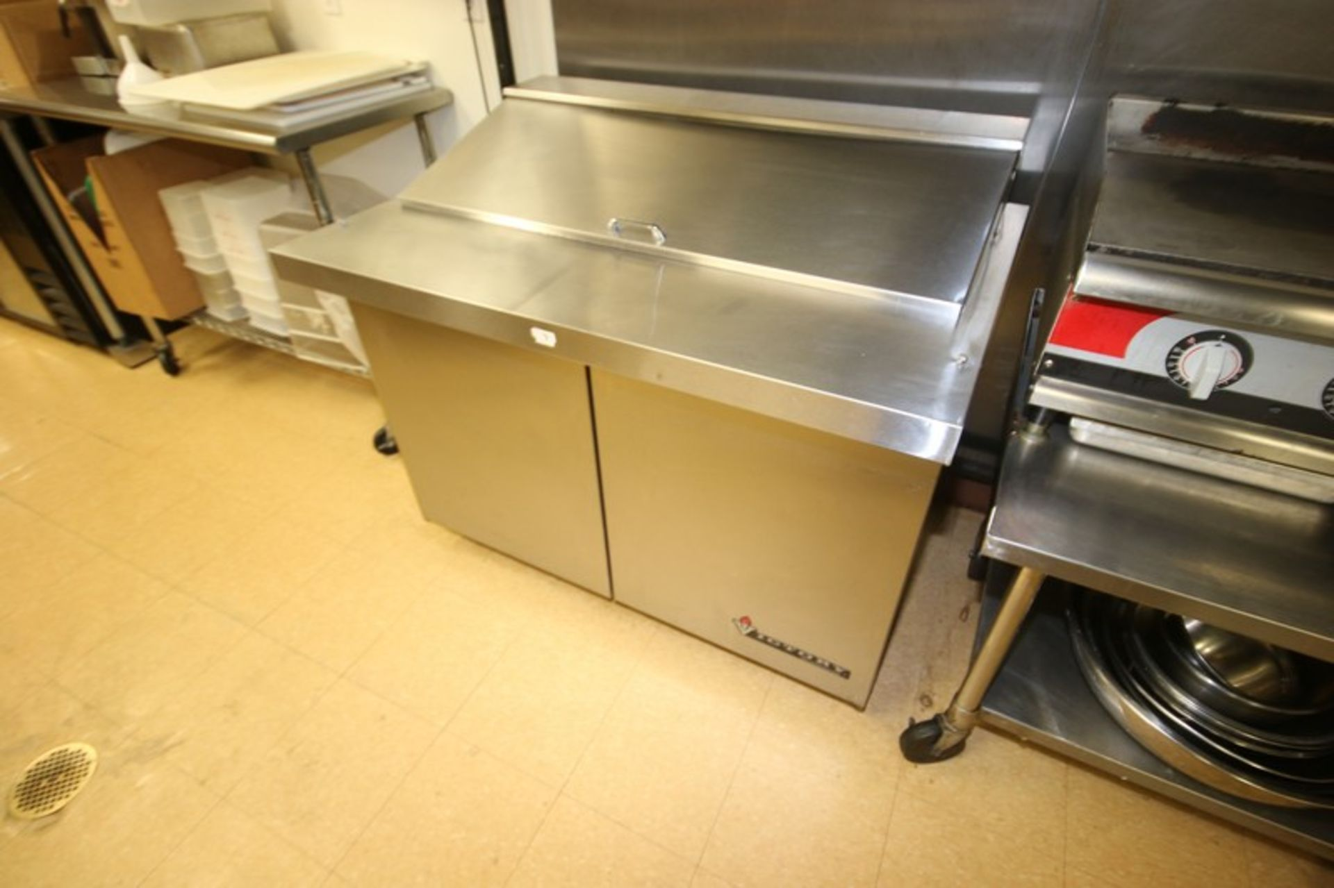 Victory S/S Refrigerated Counter, with 2-Door Bottom Refrigerated Compartment, with S/S Fold Up Door - Image 2 of 4