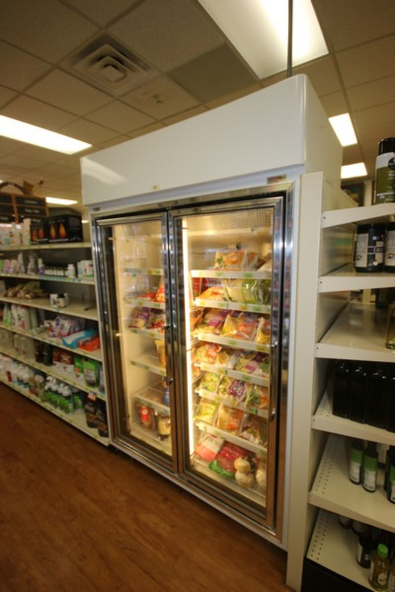 Hussman 2-Door Refrigerator, M/N HGL-2-TS, S/N 08D01598-153, 208-230 Volts, 1 Phase, Overall - Image 2 of 5