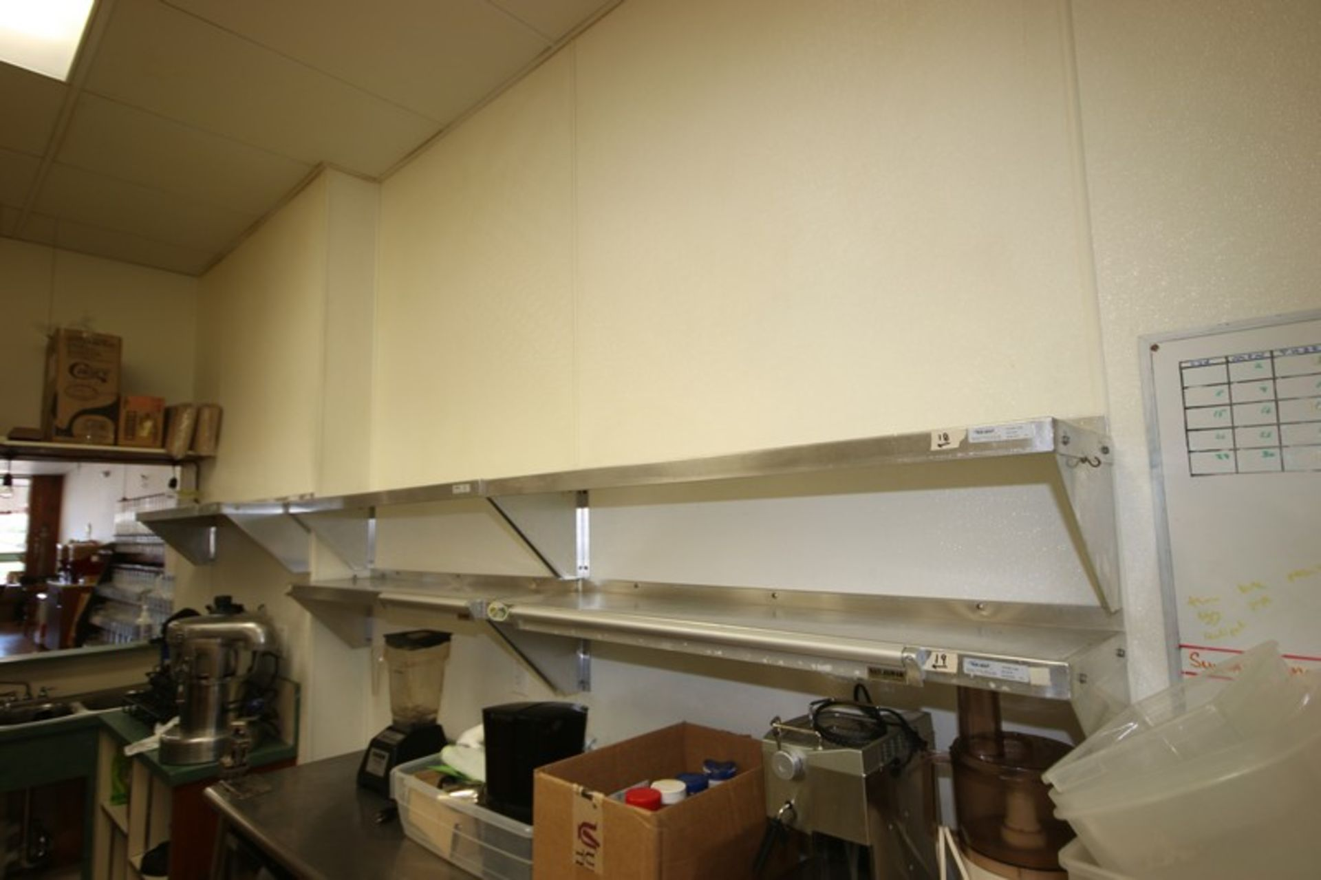 """Win-Holt S/S Shelves, Shelf Dims.: Aprox. 48"""" L x 12"""" W, Wall Mounted (Located in McMurray, PA) ("""