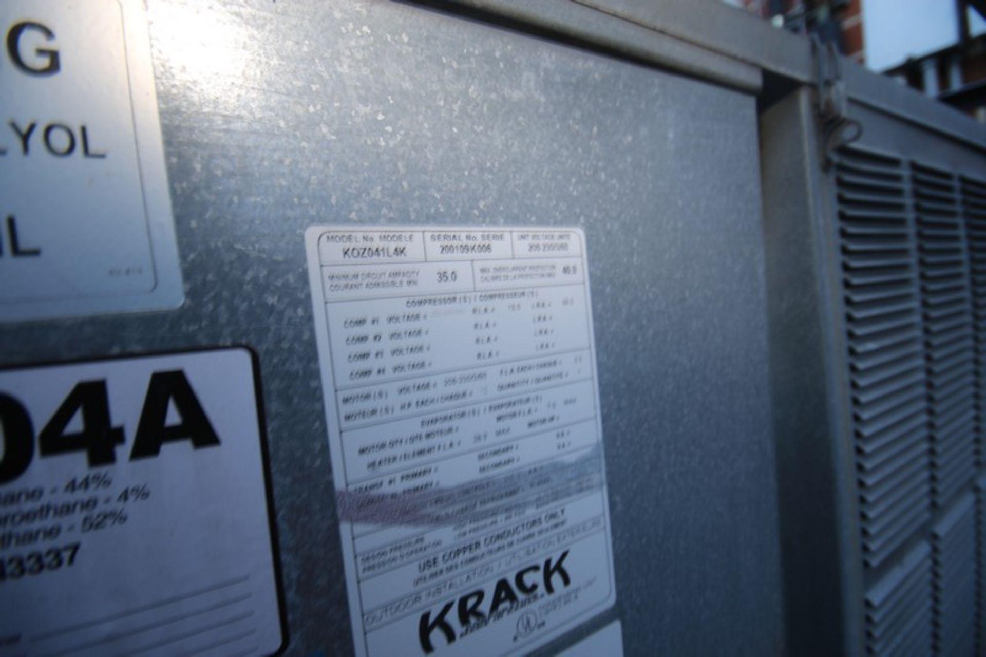 Krack Refrigeration Compressor, M/N KOZ042L4K, S/N 200109K006 with R-404A Refrigerant, 208-230/460 - Image 5 of 6
