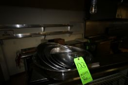 Assorted S/S Mixing Bowls, with S/S Strainer, Assorted Sizes (Located in McMurray, PA) (Rigging,