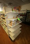 """End Shelf, with 6-Shelf Design, Overall Dims.: Aprox. 36"""" L x 18"""" W x 72"""" H (Located in McMurray,"""