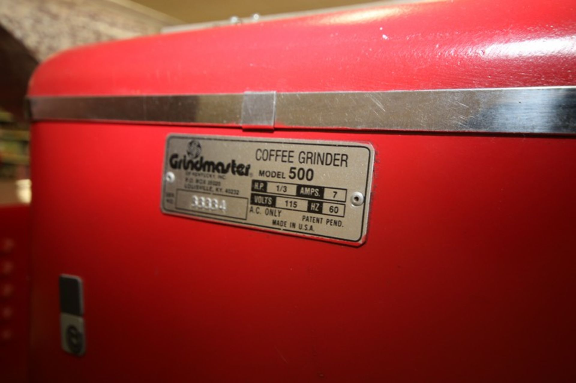 Grindmaster Coffee Grinder, M/N 500, S/N 33334, 115 Volts, with 1/3 hp Motor (Located in McMurray, - Image 4 of 4