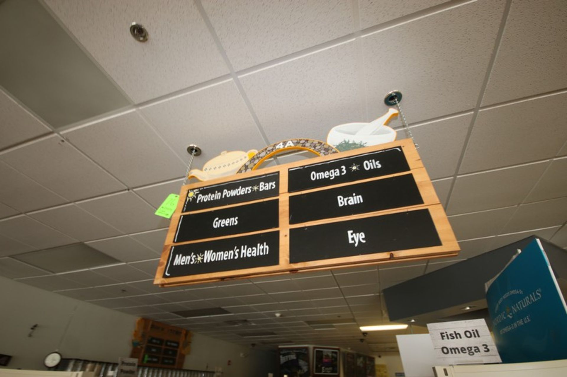"""3-Grocery Store Isle Signs, Overall Dims.: Aprox. 48"""" L x 23-3/4"""" W (Located in McMurray, PA) ( - Image 3 of 3"""