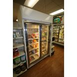 Hussman 2-Door Refrigerator, M/N HGL-2-TS, S/N 08D01598-153, 208-230 Volts, 1 Phase, Overall