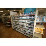 Feet of Double Sided Super Market Shelving, with Shelves, with 1-End Shelf (NOTE: SOLD BY THE