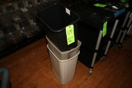 Plastic Trash Bins, Assorted Sizes (Located in McMurray, PA) (Rigging, Loading & Site Management