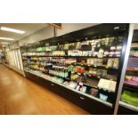 """Open Refrigerated Display Case, with 4-Internal Shelves, Overall Dims.: Aprox. 192"""" L x 35"""" W x"""