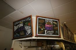(6) Chalk Signs in Bakery Area (See Photographs) (Located in McMurray, PA) (Rigging, Loading &