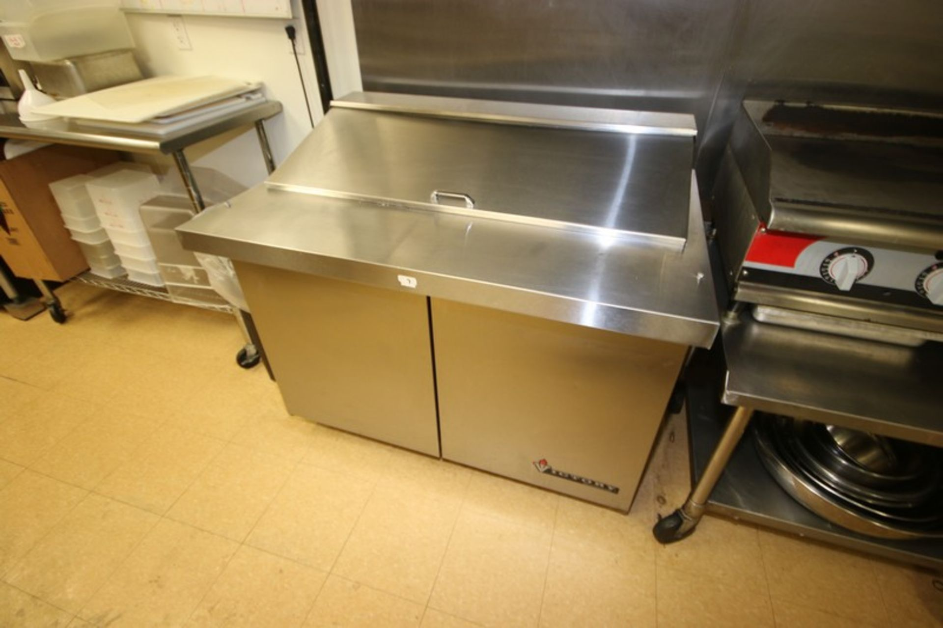Victory S/S Refrigerated Counter, with 2-Door Bottom Refrigerated Compartment, with S/S Fold Up Door - Image 4 of 4
