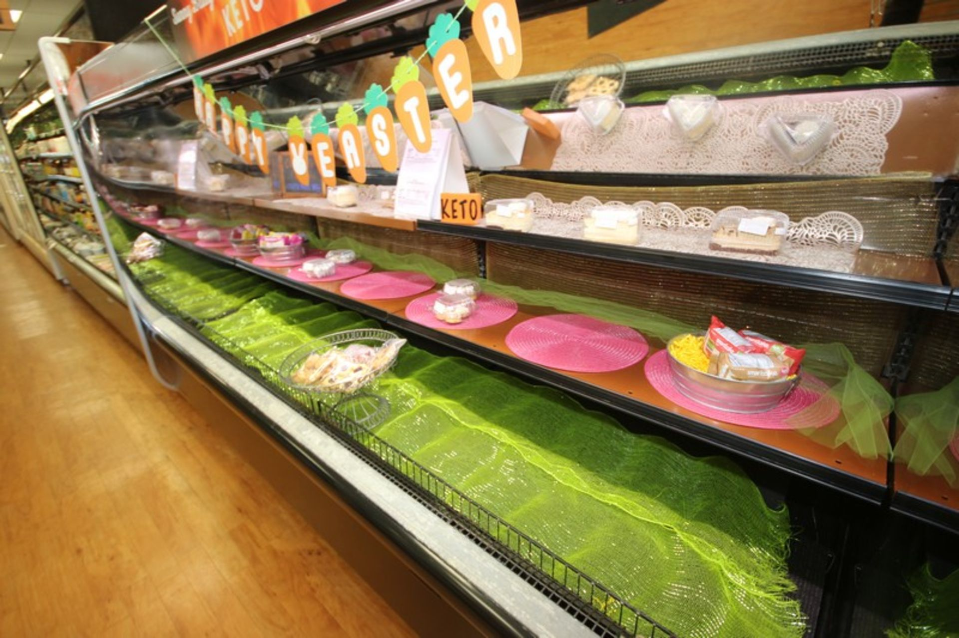 """Open Refrigerated Display Case, with 2-Shelving Units, Overall Dims.: Aprox. 99-1/2"""" L x 43"""" W x - Image 3 of 4"""