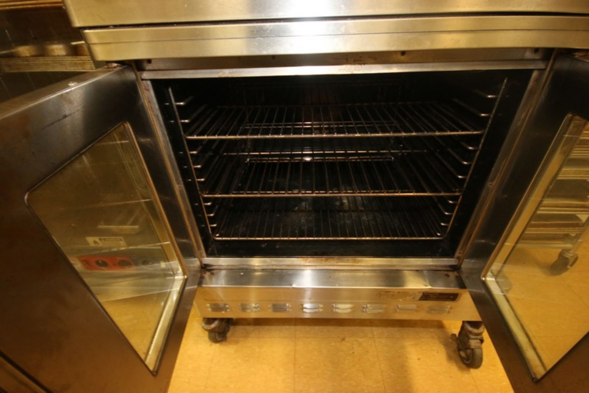 Blodgett Double Deck S/S Oven, with (3) Internal Wire Shelves In Each Compartment, Mounted on - Image 5 of 5