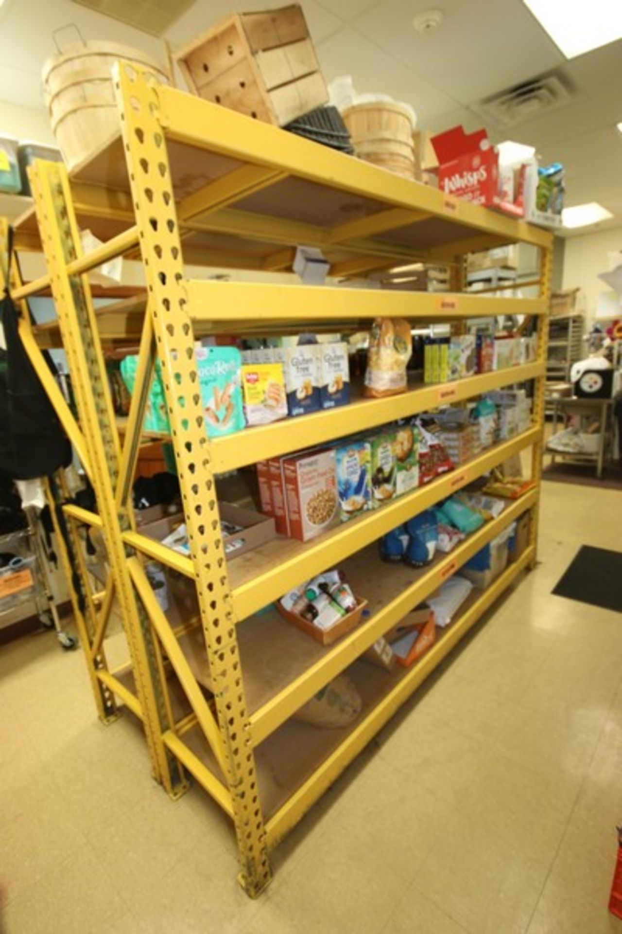 """6-Shelf Unit, with 1-Pair of Aprox. 84"""" Tall Uprights & (5) Cross Beams Aprox. 96"""" W, Overall Dims.: - Image 2 of 3"""