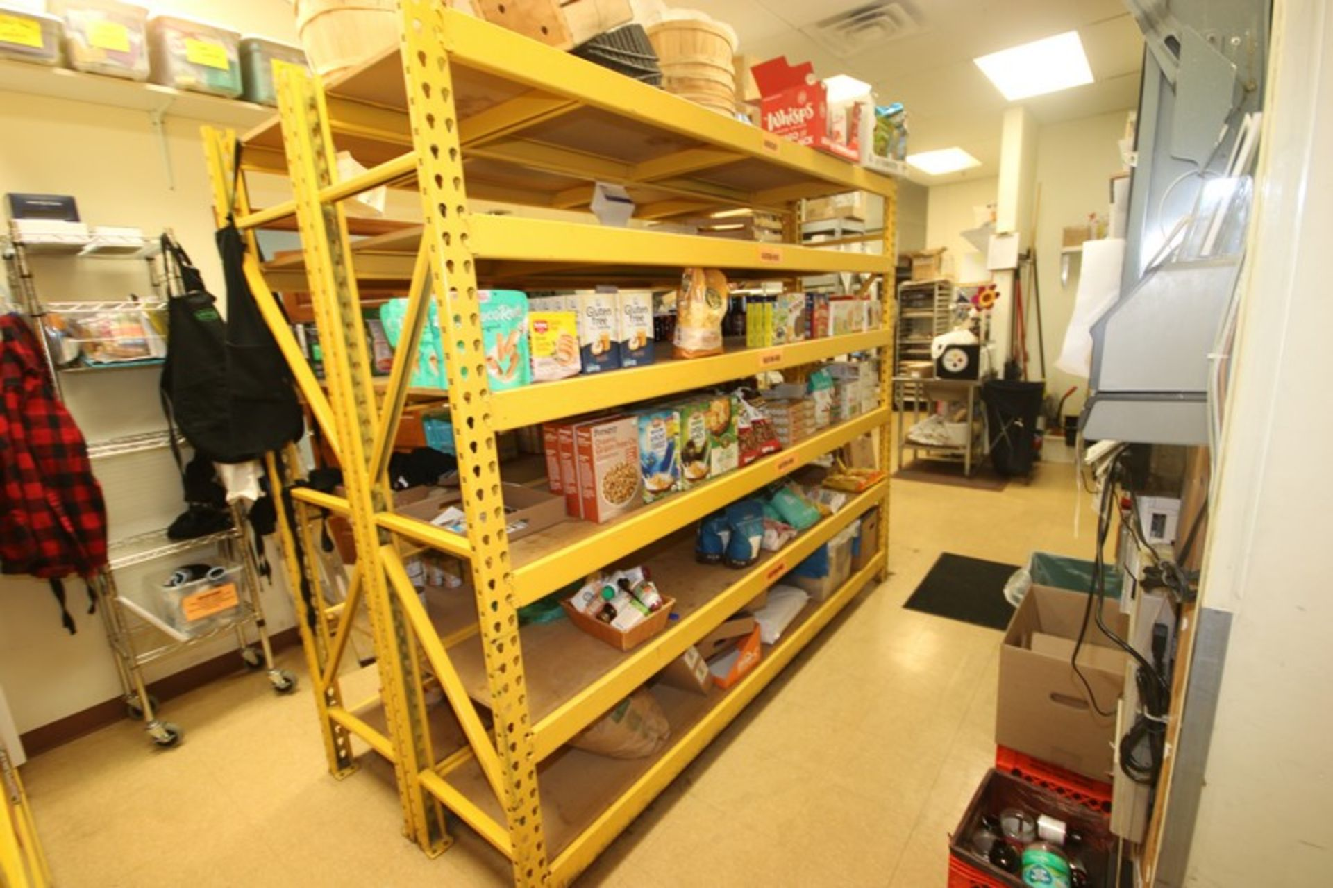 """6-Shelf Unit, with 1-Pair of Aprox. 84"""" Tall Uprights & (5) Cross Beams Aprox. 96"""" W, Overall Dims.: - Image 3 of 3"""