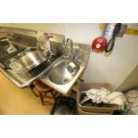 "S/S Single Bowl Sink, M/N HSAM-IQ, S/N 0610240320, Overall Dims.: Aprox. 18"" L x 12"" W (Located in"