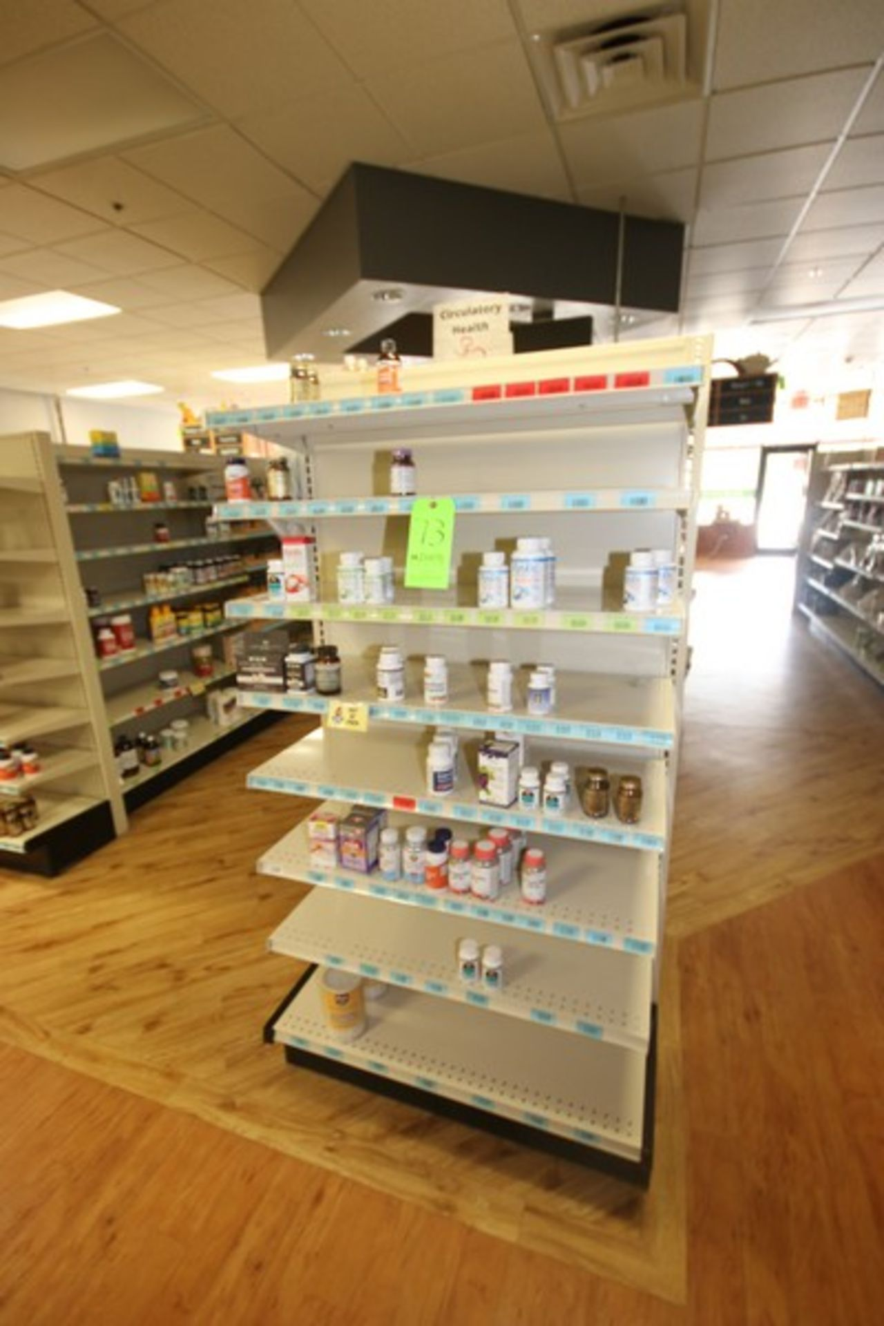 """End Shelf, with 8-Shelf Design, Overall Dims.: Aprox. 36"""" L x 18"""" W x 72"""" H (Located in McMurray, - Image 2 of 2"""