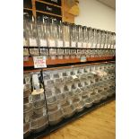 Dispensing Unit, with (8) Plastic Gravity Dispensing Units & (18) Plastic Scoop Bins, Overall Dims.: