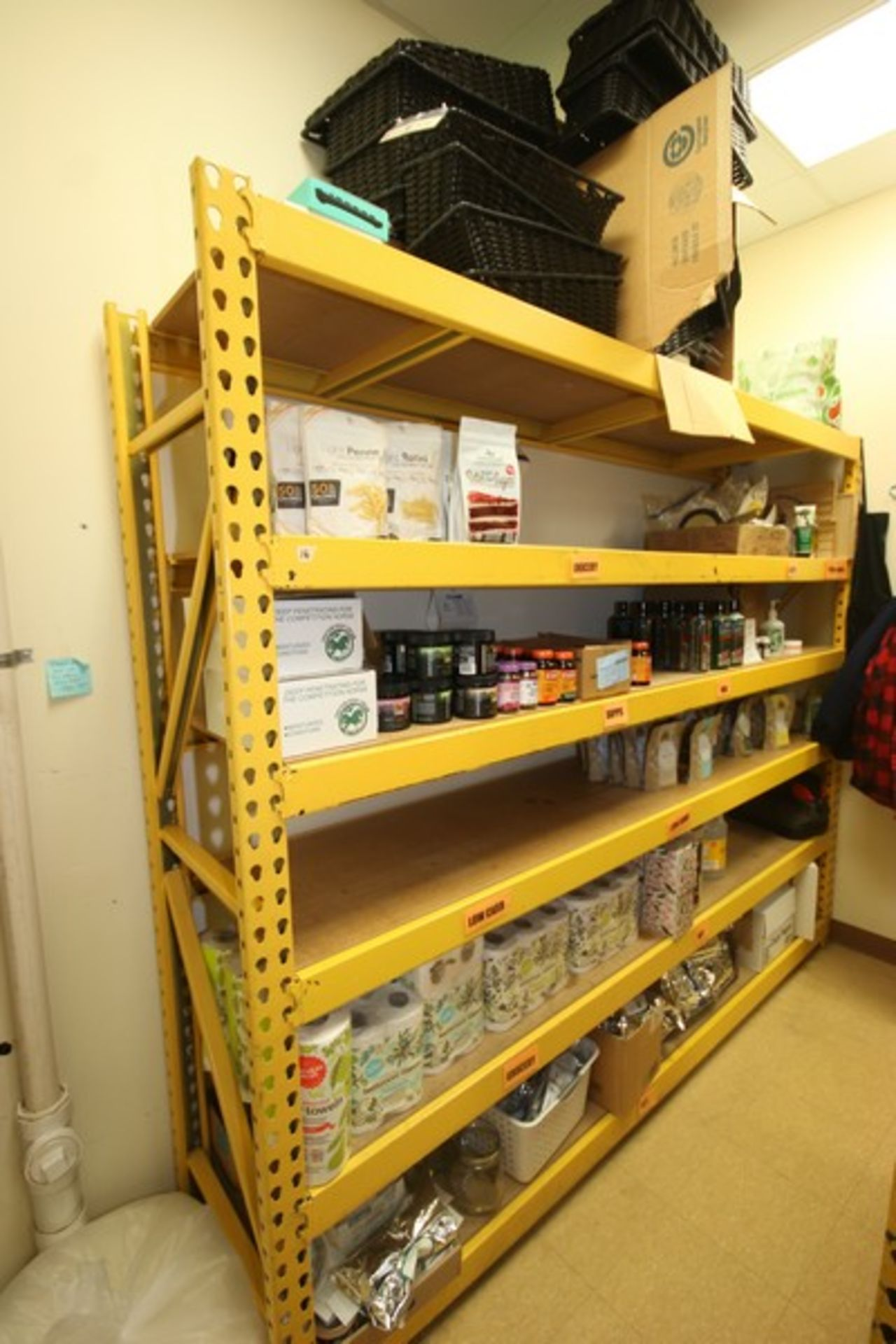 """6-Shelf Unit, with 1-Pair of Aprox. 84"""" Tall Uprights & (5) Cross Beams Aprox. 96"""" W, Overall Dims.: - Image 2 of 2"""