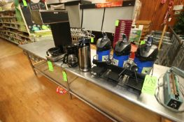 Assorted Coffee & Hot Beverage Dispensers, with (1) Bunn Coffee Dispenser, (1) Kitchen Smith