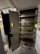 ASSORTED METAL STORAGE CABINETS/SHELVES (3) PIECES (Non-Negotiable Rigging, Packaging and Loading