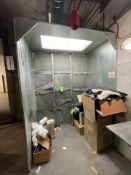 PAINT EXHAUST BOOTH APPX 8'H x 6'W x 44''D (Non-Negotiable Rigging, Packaging and Loading Fee: $25)