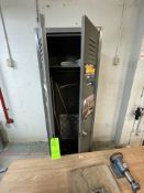 METAL 2-DOOR STORAGE LOCKER, APPX 24'' X 24'' X 78'' (Non-Negotiable Rigging, Packaging and