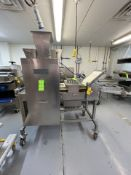 MBC FOOD MACHINERY CORP 6-WIDE RAVIOLI MACHINE, MODEL 3-100, S/N NPP1109R, CURRENTLY SET UP FOR