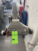 """PORTABLE S/S MESH CONVEYOR WITH APPROX. 14"""" W BELT, STRAIGH SECTION APPROX. 200"""" L X 15"""" W X 28"""""""