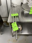 S/S PADDLE MIXER AND (2) S/S WHISKS
