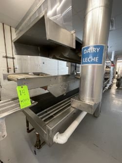 S/S CONVEYORIZED PASTA COOKER / BLANCHER, PREVIOUSLY OPERATING @ 7-1/2 - 10 LBS PSI STEAM, COOK TIME