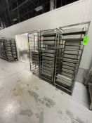 (4) STEAM TABLE / WARMING PAN RACKS, INCLUDES APPROX. (75) WARMING / STEAM TABLE PANS, APPROX.