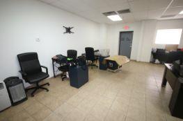 Lot of Assosted Office Furniture, Includes (2) Desks, (2) L-Shaped Desks, (4) Cushioned Office