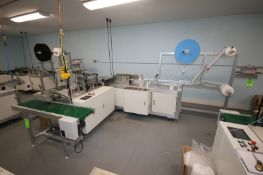 Ultra-Sonic Spindle Medical Mask Manufacturing Machine, with Spindle Rack Containing Top Laying,