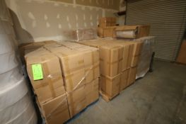BULK BID: LOTS 13-20 INCLUDES (6) Pallets of Boxes of Clear Film, (12) Pallets of NEW Filter Rolls