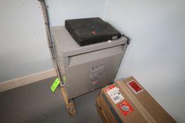 Maddox Transformer, Voltage 208-416 Y/240, 30 KVA, 3 Phase, Cat. No.: AD37-E1123, S/N 20-08-