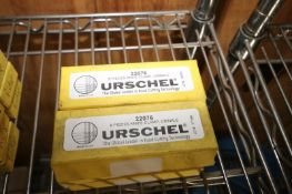 """ASSORTED URSCHEL BLADES & KNIVES,INCLUDES (2) BOXES OF STRIP CUT 3/16"""", PART NO. 22219, (3) BOXES OF"""