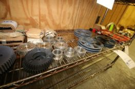 LOT OF ASSORTED SPROCKETS & PULLIES,ASSORTED SIZES & STYLES (INV#80896)(Located @ the MDG Auction