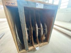 NEW TRANSSLICER BLADES, ASSORTED SIZES & STYLES, LOCATED IN WOODEN CRATE