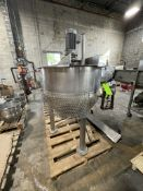 2006 LEE APPROX. 100 GALLON S/S JACKETED KETTLE WITH SWEEP/SCRAPE AGITATION, 2006100D9MS, S/N